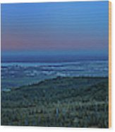 Panoramic View Overlooking Anchorage Wood Print