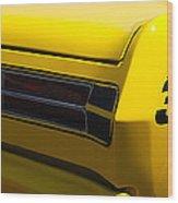 Panoramic Yellow Duster Wood Print