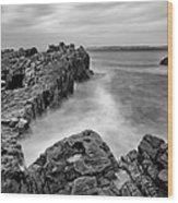 Ballycastle - Pans Rock To Rathlin Island Wood Print