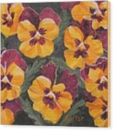 Pansies Are For Thoughts Wood Print