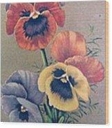 Pansies Bouquet Wood Print