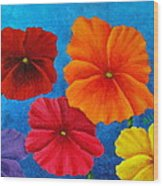 Pansies For Rosalina Wood Print