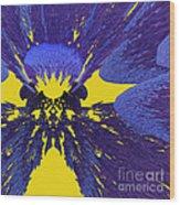 Pansy By Jammer Wood Print
