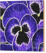 Pansy Expressive Brushstrokes Wood Print