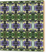 Pansy Floral Pattern Wood Print