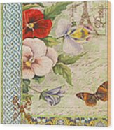 Pansy Garden-a Wood Print