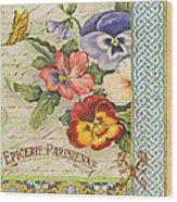 Pansy Garden-b Wood Print