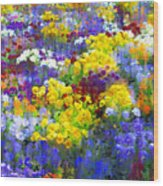Pansy Party Wood Print