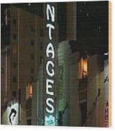 Pantages Neon Wood Print