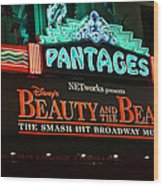 Pantages Theather Marquie Wood Print