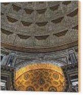 Pantheon Ceiling Detail Wood Print
