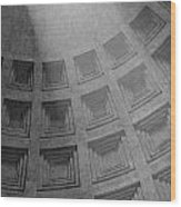 Pantheon Ceiling Wood Print
