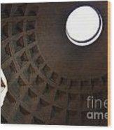 Pantheon Dome Wood Print