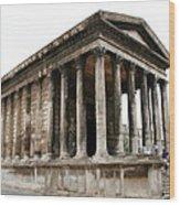 Pantheon Nimes Wood Print