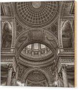 Pantheon Vault Wood Print