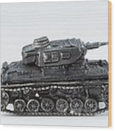 Panzer Miniature Wood Print