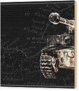 Panzer Tiger I Front Bk Bg Wood Print