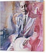 Papa Jo Jones Jazz Drummer Wood Print by David Lloyd Glover