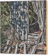 Papa Sandy's Storage Shed Wood Print by James Woody