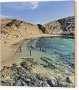 Papagayo Beach On Lanzarote Wood Print