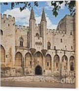 Papal Castle In Avignon Wood Print