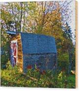 Papa's Old Barn Wood Print