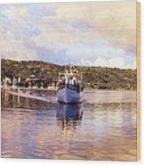Papeete Harbour Dawn Wood Print