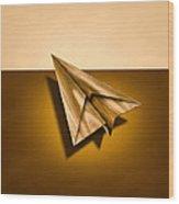 Paper Airplanes Of Wood 1 Wood Print
