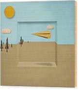 Paper Airplanes Of Wood 12 Wood Print