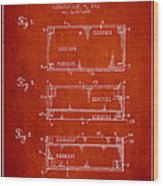 Paper Currency Patent From 1962 - Red Wood Print