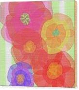 Paper Flowers Wood Print