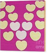Paper Hearts Wood Print