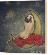 Paper Moon Wood Print