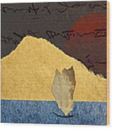 Paper Sail Wood Print by Carol Leigh