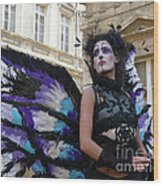 Papillion Femme Wood Print
