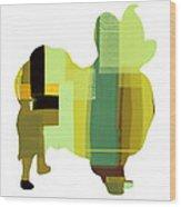 Papillion Wood Print by Naxart Studio