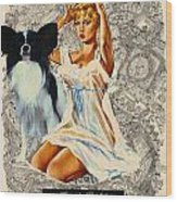 Papillon Art - Una Parisienne Movie Poster Wood Print