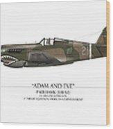 Pappy Boyington P-40 Warhawk - White Background Wood Print by Craig Tinder
