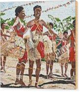 Papua New Guinea Cultural Show Wood Print