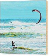 Para-surfer   Wood Print by CHAZ Daugherty