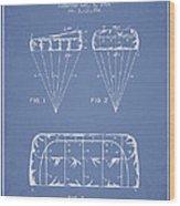 Parachute Design Patent From 1964 - Light Blue Wood Print