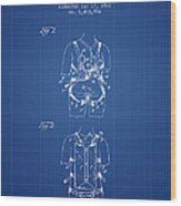 Parachute Harness Patent From 1922 - Blueprint Wood Print