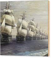 Parade Of The Black Sea Fleet In 1849 Wood Print