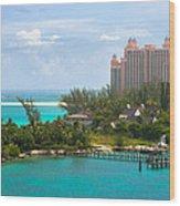 Paradise And Atlantis Wood Print