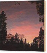 Paradise At Dusk Wood Print