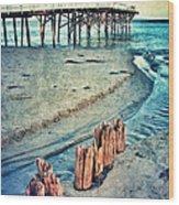 Paradise Cove Pier Wood Print