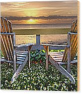 Paradise Wood Print by Debra and Dave Vanderlaan