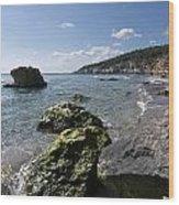 Binigaus Beach In South Coast Of Minorca Island Europe - Paradise Is Not Far Away Wood Print