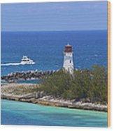 Paradise Island Lighthouse Wood Print