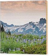 Paradise Meadows And The Tatoosh Range Wood Print